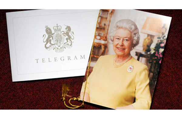 Anniversary Card from the Queen